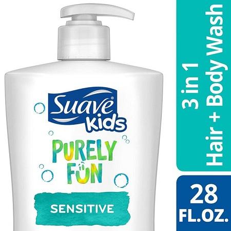Suave Kids Purely Fun Sensitive: 3in1Shampoo,Conditioner&Body Wash