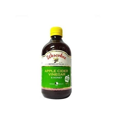 Wescobee Apple Cider Vinegar & Honey with the mother 500ML