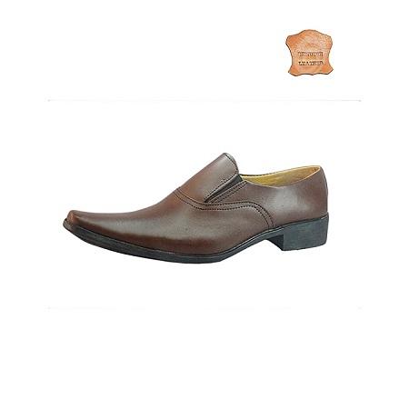Classic Dark Tan Formal Shoes