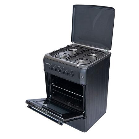 Bruhm BGC 6640NB - Free Standing Gas Cooker - 60cm x 60cm - Black