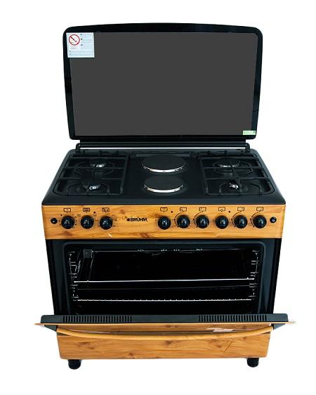 Bruhm BGC 9642NZ, Free Standing Gas Cooker - Wooden