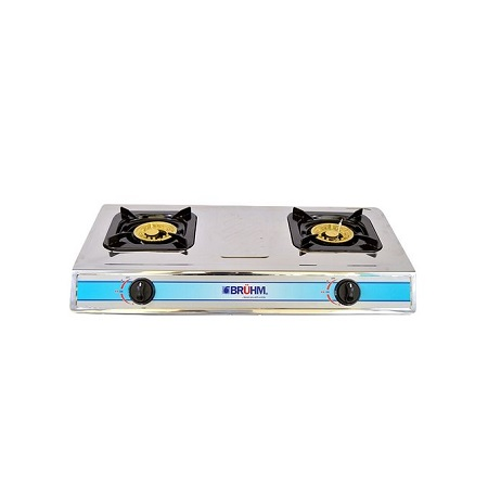 Bruhm BGC MT2S - 2 Burner Gas Stove Stainless Steel - Silver