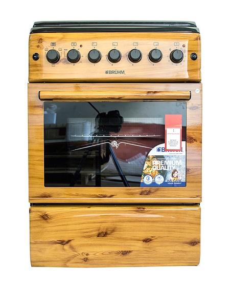 Bruhm BGI 66M31ORNN, 3 Gas + 1 Hot plate, Free Standing Gas Cooker