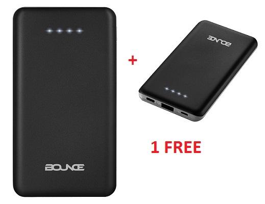 Bounce 6000 Mah Power Bank -Black Buy 1 get 1 FREE