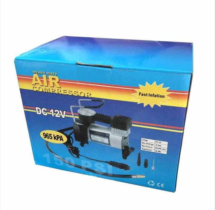 Portable 12V 150PSI/965kPA Car Electric Air Compressor Tire Inflator Pump