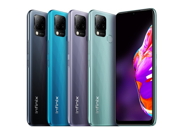 Infinix Hot 10 T: 6.82 inches, 128GB + 4GB RAM, 48MP- 5000mAh Blue