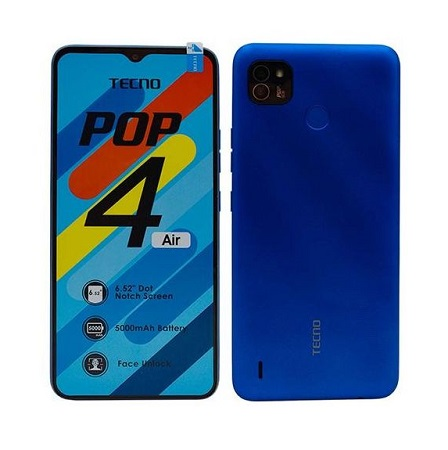 Tecno POP 4 Air: 6.52 inches, 16GB + 1GB RAM (Dual SIM), 5000mAh-Blue.