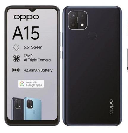 Oppo A15s: 6.52 Inches, 4GB RAM + 64GB ROM, 4230mAh