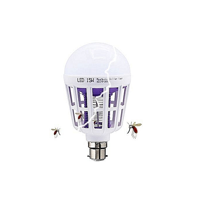 2 in 1 Mosquito Killer LED 15w Bulb/Lamp (Pin)