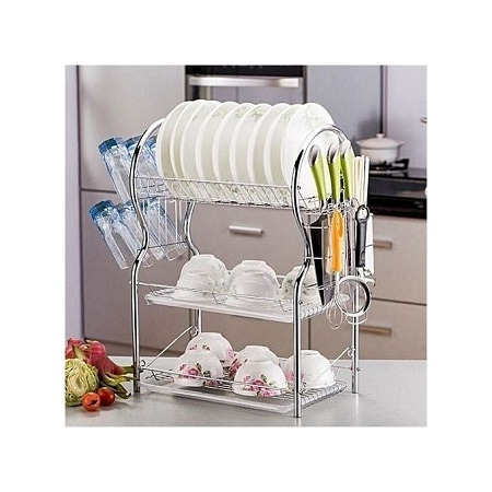 Dish Rack - 3 Tier - with Drain Board.