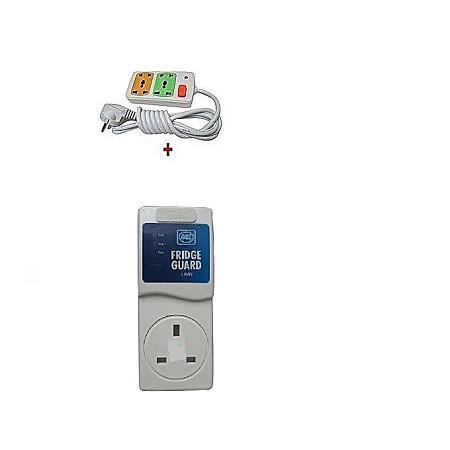 MK Fridge Guard 5A Refrigerator voltage protector + Free 4way fused extension
