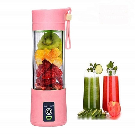 Generic Portable Blender Juicer,Mixer,USB Rechargeable, 380ml-Pink