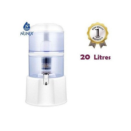 Nunix Water Purifier with Dispensing tap - 20 Litres - White