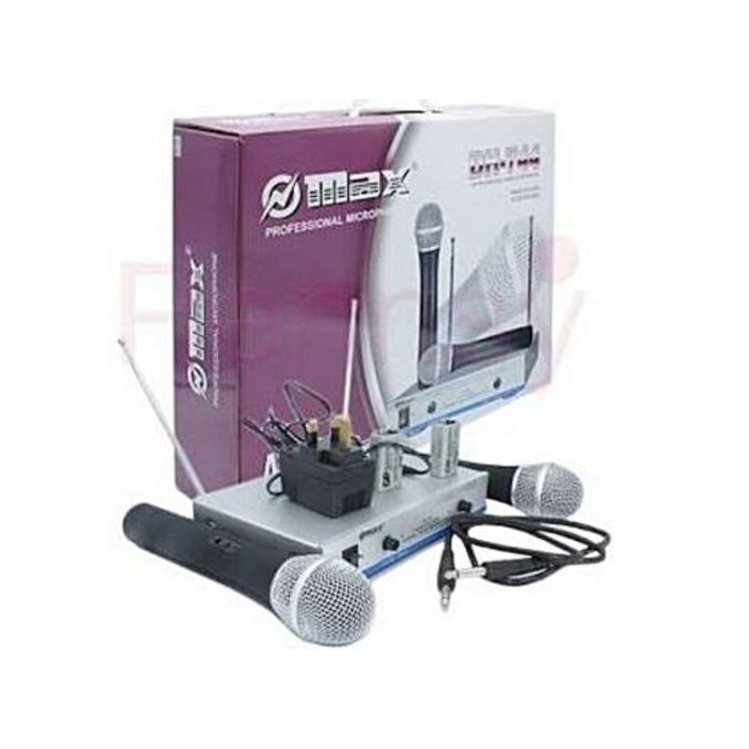 Omax Max Dual Channel UHF Wireless Microphone System - DH-744