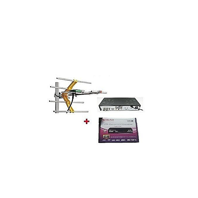Free to Air Decoder with Digital Gotv Aerial - Black