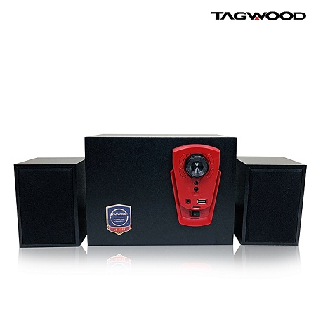 TAGWOOD LS-421B Multimedia Speaker System 2.1 with Bluetooth,FM Radio black 5800W