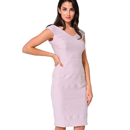 DUSTY PINK SLEEVELESS MIDI DRESS