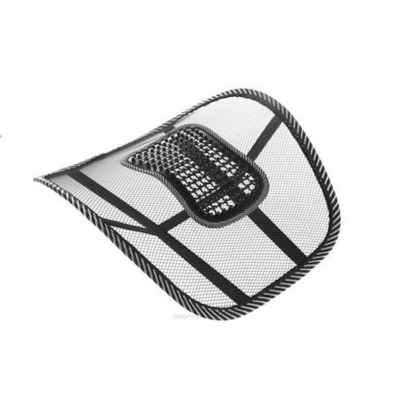 Back Rest - Mesh Support For Car Seat Or Office Chair - Black