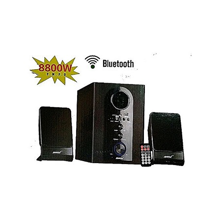 Ampex - 2.1 Channel Subwoofer Bluetooth - Black-8800W