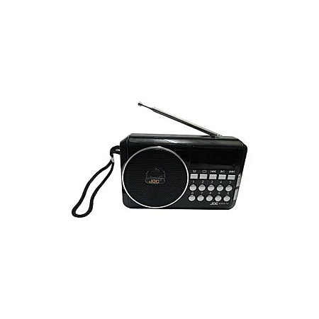 Joc Fm Radio Rechargeable Digital Fm Radio with usb and memory slot -Black