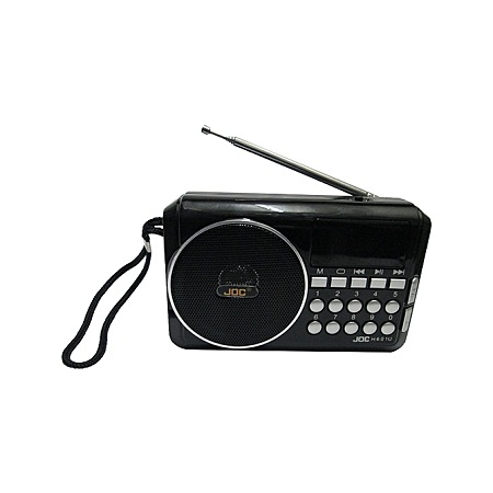 Joc Fm Radio Rechargable Digital Selects Music Player/Fm Radio with usb and memory slot - Black