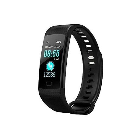 Generic Y5 Wristband Heart Rate Blood Pressure Monitor Bluetooth Smart Watch Water Proof Fitness Tracker
