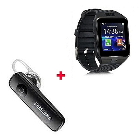 Smart Watch DZ09 Smart Watch Phone with Free Bluetooth - Black