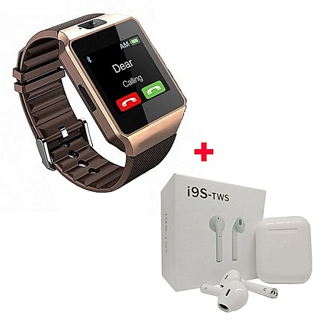Smart Watch With Free i9s - Rose Gold