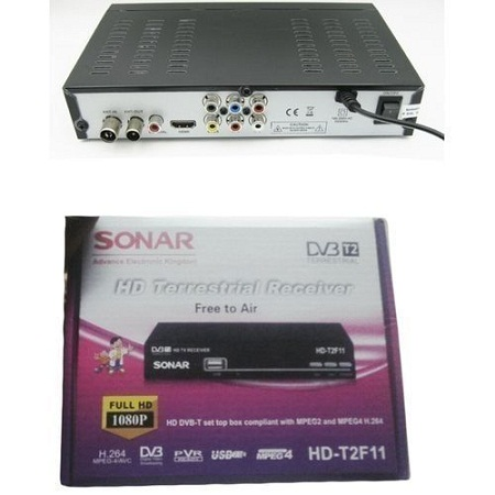Sonar Free To Air Digital Decoder. No Monthly Charges. Full HD 1080P With Usb - Black