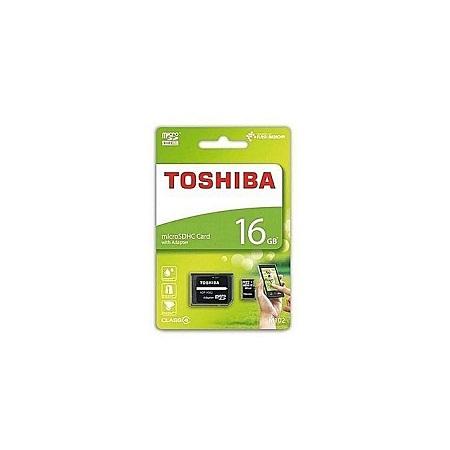 Toshiba High Quality Micro SD Memory Card 16GB Capacity - Black