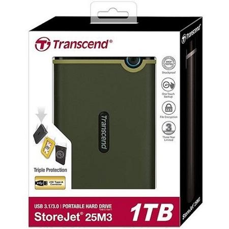 Transcend Storejet 25M3 - 1TB - USB 3.0 External Hard Drive