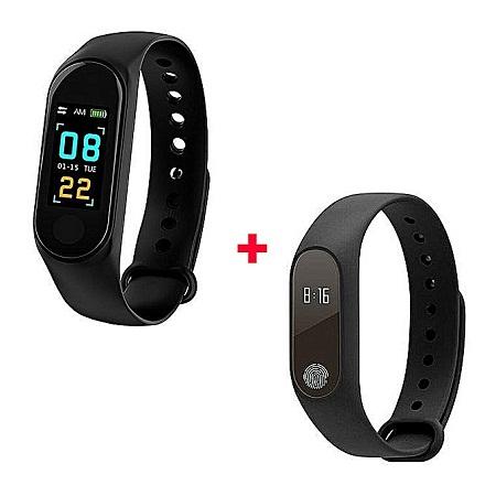 M2 New Smart M2 And M3 Health Wrist Bracelet Heart Rate Monitor -Black