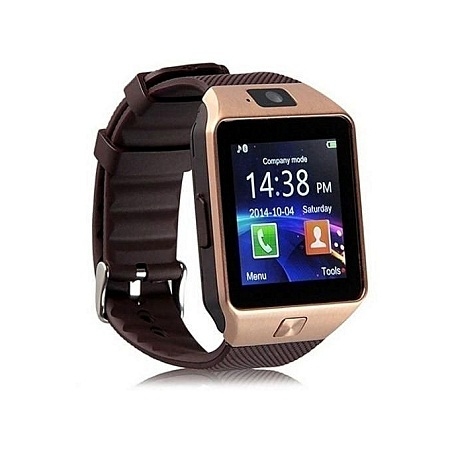Kipato Unbranded DZ09 Smart Watch Phone for Android and Apple - Gold Brown