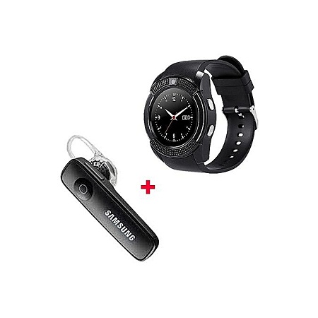 Smart Watch S006 Smart Berry Smart Watch with Free Bluetooth- Black