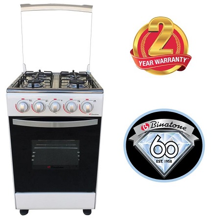 Binatone FGC-501AGS Standing Gas Cooker + Oven - Silver