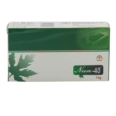 Neem 40 Medicated Bar Soap - 75g - Green