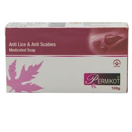 Bio Pharma Permikot Anti Lice & Anti Scabies Medicated Soap - 100g - Pink