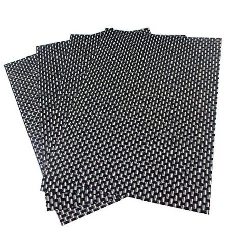 Black And Gold Pvc Heat Resistant Table Place Mats 6pcs