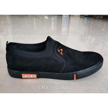 Leopard Men's Rubber Shoes Black