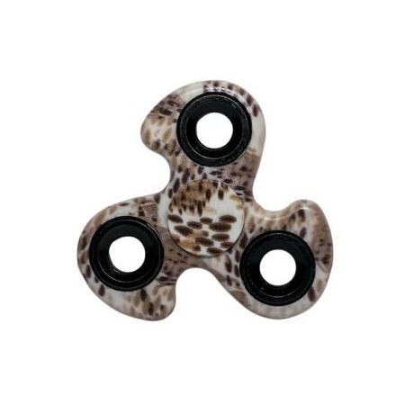 Gyro Ninja Fidget Spinner Stress Reliever Brown Print