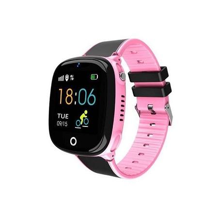 HW11 Kids GPS Tracker Smart Waterproof Watch - Pink