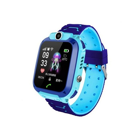 Kids Fun SOS Remote Monitor Smart Watch with Camera - Blue