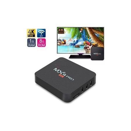 Mxq Pro - Smart - 4K - Android 7.1 TV Box - Black