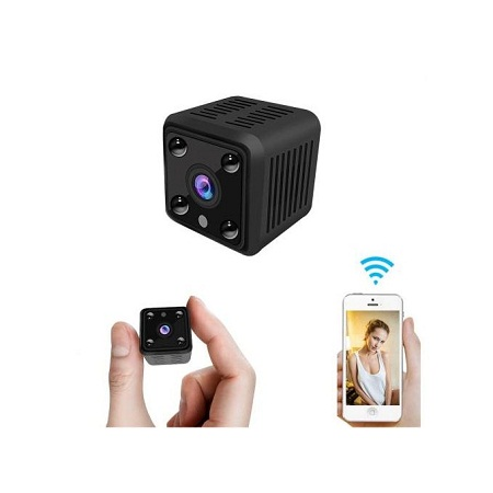 Mini Wireless CCTV IP Camera Night Vision - Black