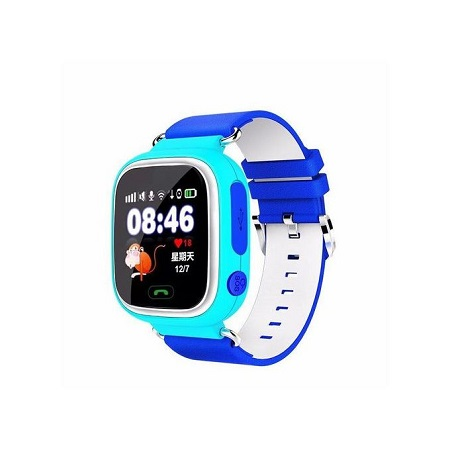 Q90 GPS Kids Smart Watch Phone Color Touch Screen - Blue