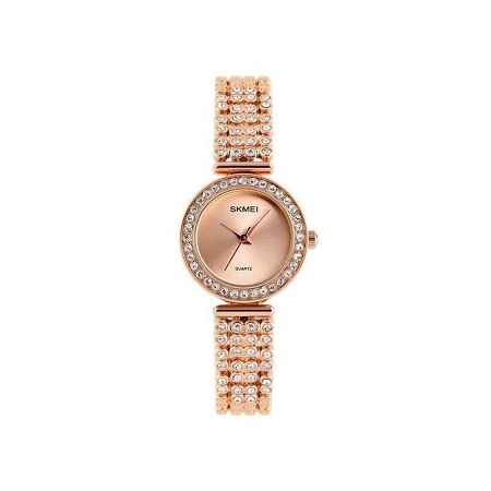 Skmei Women Fashion Luxury Rhinestone Dress Watch 1224 - Gold
