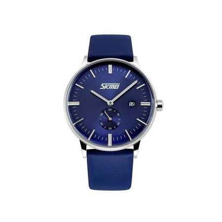Skmei Mens Luxury Casual Leather Watch 9083 - Blue