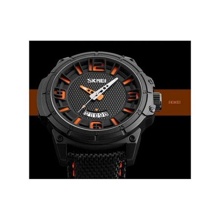 Skmei Mens Casual Luxury Brand Sports Watch 9170 - Black Orange