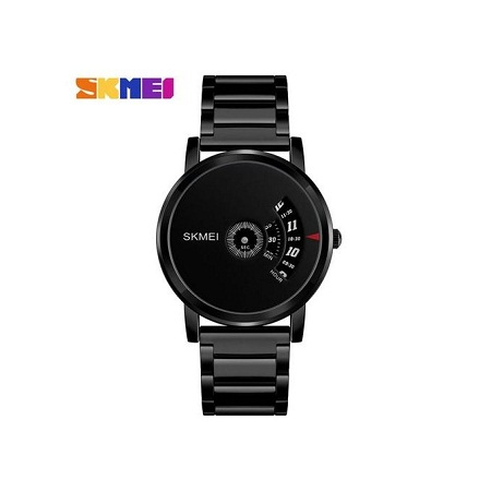 Skmei Simple Style Mens Watch Stainless Steel Band 1260 - Black