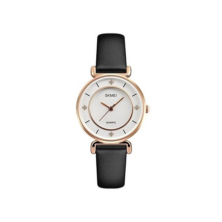 Skmei Casual Style Ladies Leather Strap Watch 1330 - Gold